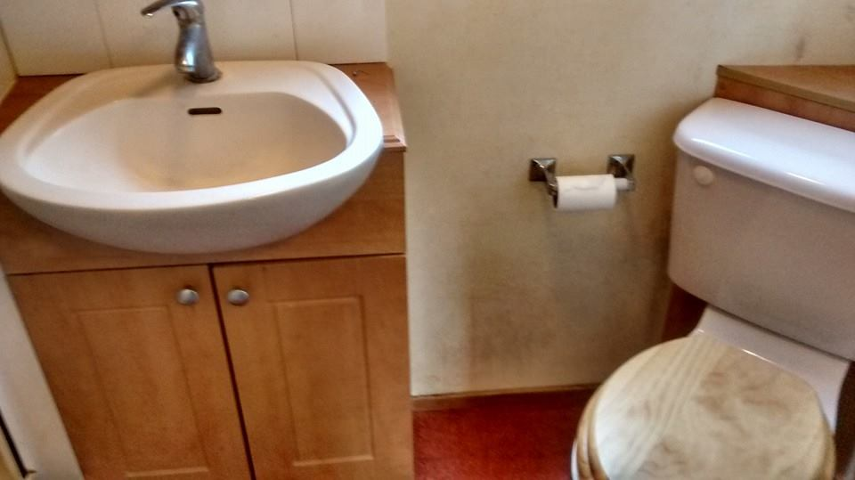 static caravan toilet sink replaced by sns caravan repairs