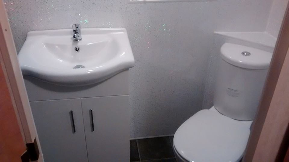 caravan bathrom shower new fitted