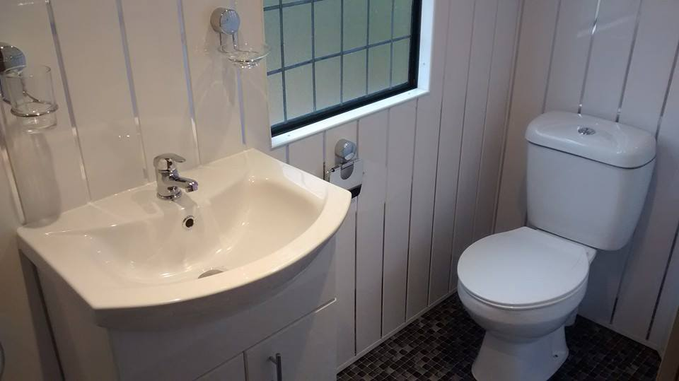 static caravan shower bathroom refurb