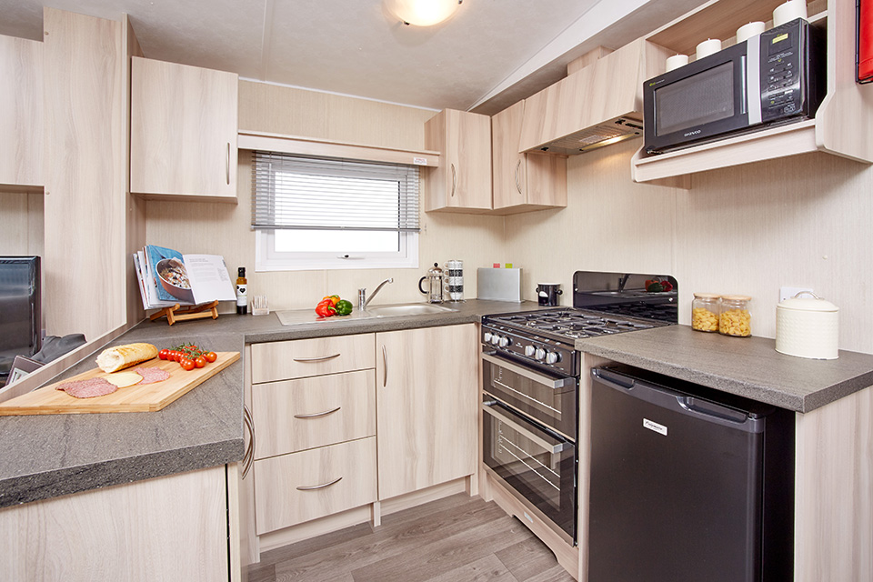 arronbrook topaz kitchen in the caravan