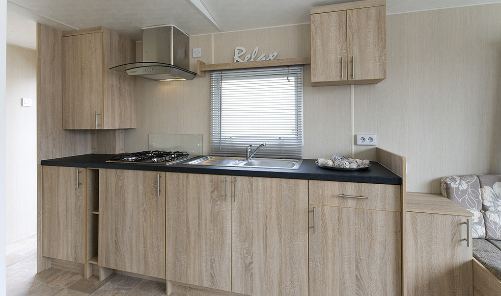 kitchen in corona caravans sunbeam 29x12