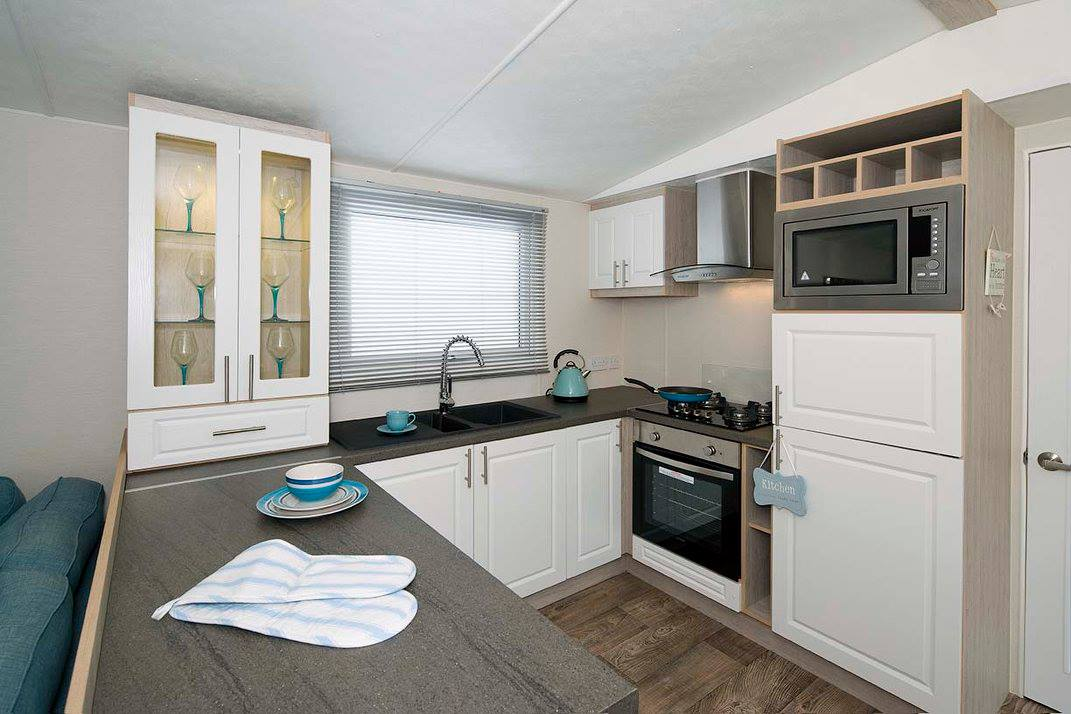 kitchen in corona starlight super caravan
