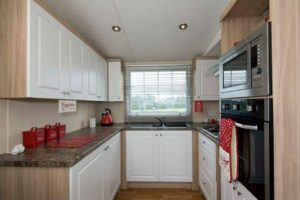 corona sunrise super inside caravan kitchen