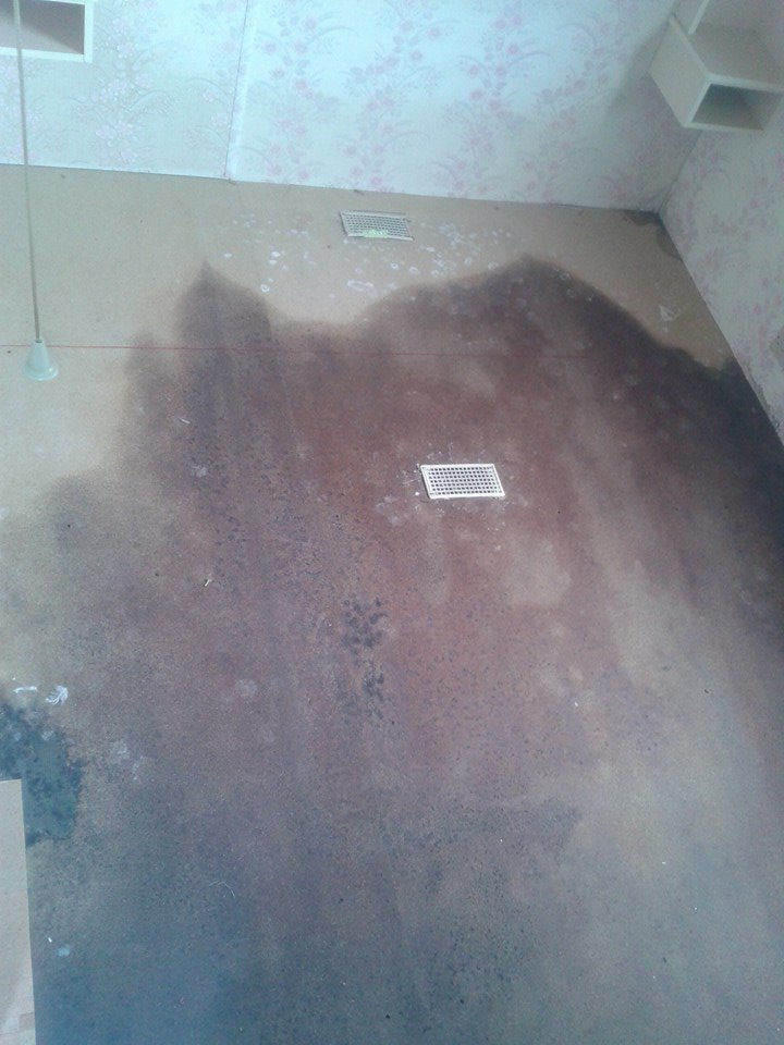 caravan flood damage floor walls ceilings