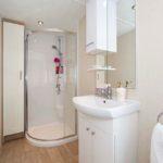 bathroom in corona quasar caravan shower